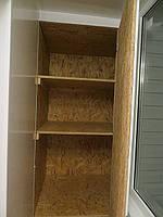 Шкаф с OSB на балконе