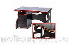 Офисный стол Barsky HG-05/CUP-05 Game Red, стол с мобильной тумбой, фото 2