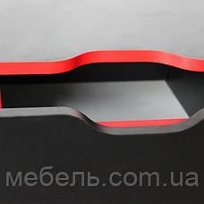Офисный стол Barsky HG-05/CUP-05 Game Red, стол с мобильной тумбой, фото 3