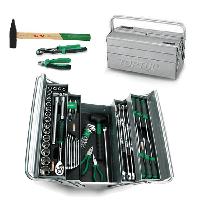 Ящик с инструментом для автомобиля, дома, СТО, автосервиса (5 секций)  63ед.  TOPTUL GCAZ0039