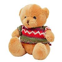 Медвежонок в свитере, 15 см, светло-коричневый.)
