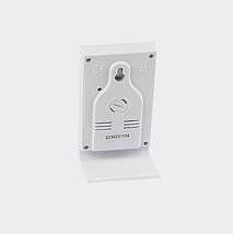 Термометр гигрометр комнатный цифровой электронный термогигрометр бытовой Т-14 черный с часами, фото 3