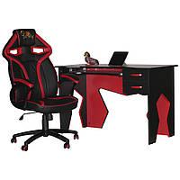 Комфортное компьютерное кресло и стол Barsky Homework Red HG-02/SD-08