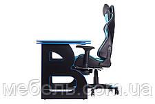 Компьютерные столы компьютерный геймерская станция barsky homework game blue/black hg-04/sd-19, фото 2