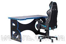 Комфортное компьютерное кресло и стол Barsky Homework Game Blue/Black HG-04/SD-19, фото 3