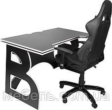 Компьютерные кресла офисное компьютерное игровая станция barsky homework game black/white hg-06/sd-09, фото 2