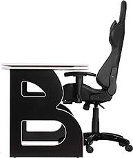 Офисное кресло и стол Barsky Homework Game Black/White HG-06/SD-09, фото 3
