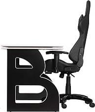 Комфортное компьютерное кресло и стол Barsky Homework Game Black/White HG-06/SD-09, фото 3