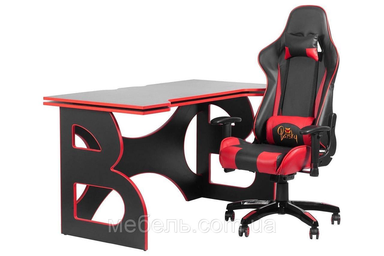 Компьютерные столы компьютерный игровая станция barsky homework game red hg-05/sd-13