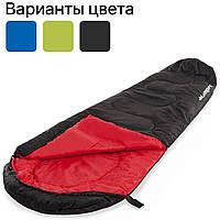 Спальный мешок Acamper Мумия, кокон, 250g/m2 спальник туристический (спальний мішок туристичний) Черный, фото 1