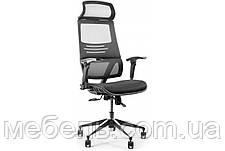 Офисное кресло Barsky BB-04 Black New, сеточное кресло, фото 3