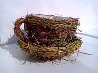 Чашка средняя кашпо для цветов плетенная трава