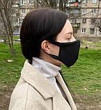 Комплект 10 шт. Многоразовая маска защитная D9424 черная, фото 4