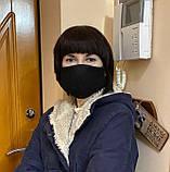 Комплект 10 шт. Многоразовая маска защитная D9424 черная, фото 5