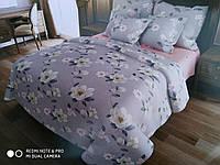 Комплект цветочного постельного белья отличного качества, полуторка, жасмин