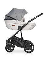 Детская универсальная коляска 2 в 1 Riko Basic Aicon Pro (белый/серый цвет)