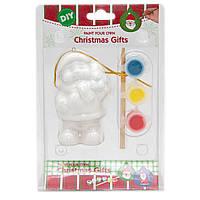 Детский набор для творчества - медведь, 3 краски, кисточка, (791668)