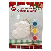 Детский набор для творчества - снеговик на авто, 3 краски, кисточка (791729)