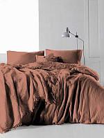 Комплект постільної білизни Limasso SnowFlake Commencer 200х220 Світло-коричневий