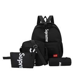 Рюкзак Supreme черный сумочкой и пеналом в комплекте