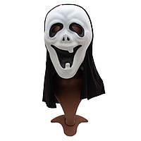 """Карнавальная маска из фильма """"Крик"""", 18*40 см, полимер, белая.)"""