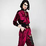 Спортивный молодежный костюм  размеры: S/M, L/X Lцвет фиолетовый с черным, фото 8