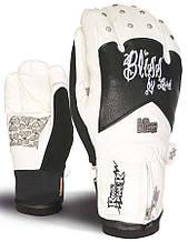 Гірськолижні рукавички Level Bliss Rocker кол.білий-чорний | розмір - 6 (ХХS)