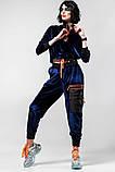 Спортивный молодежный костюм  размеры: S/M, L/X Lцвет фиолетовый с черным, фото 9