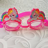 Детские очки для плавания Пони, разные варианты, фото 1