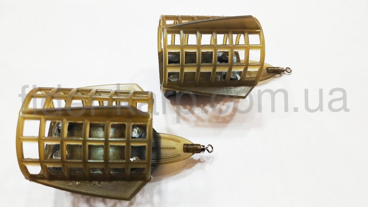 "Фидерная рыболовная кормушка ""Feeder Sport"" c грунто зацепами , вес 60 грамм"