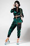 Велюровый спортивный молодежный костюм размеры: S/M, L/X Lцвет малиновый, фото 6
