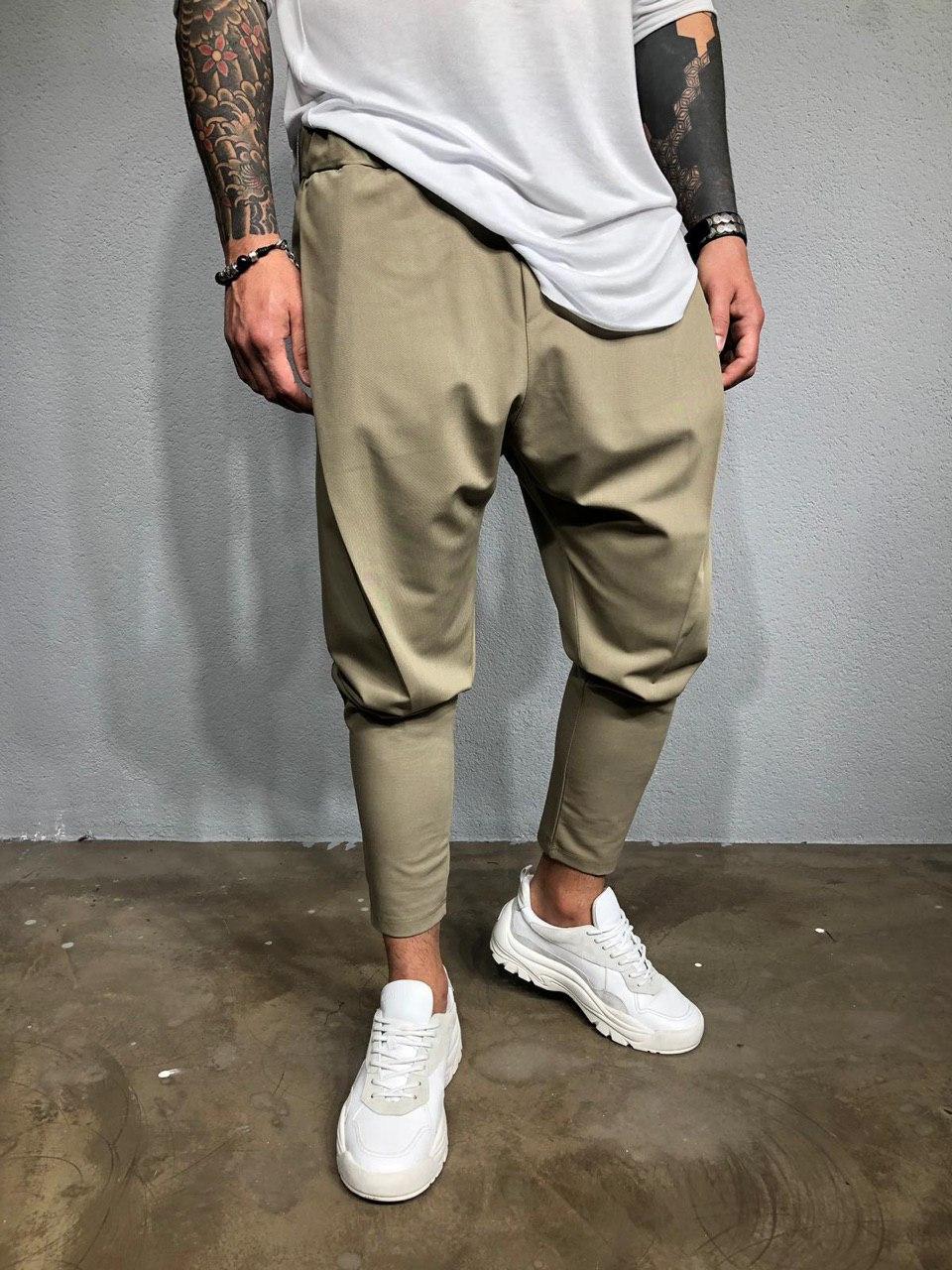 Мужские брюки бежевые Black Island Ada1993