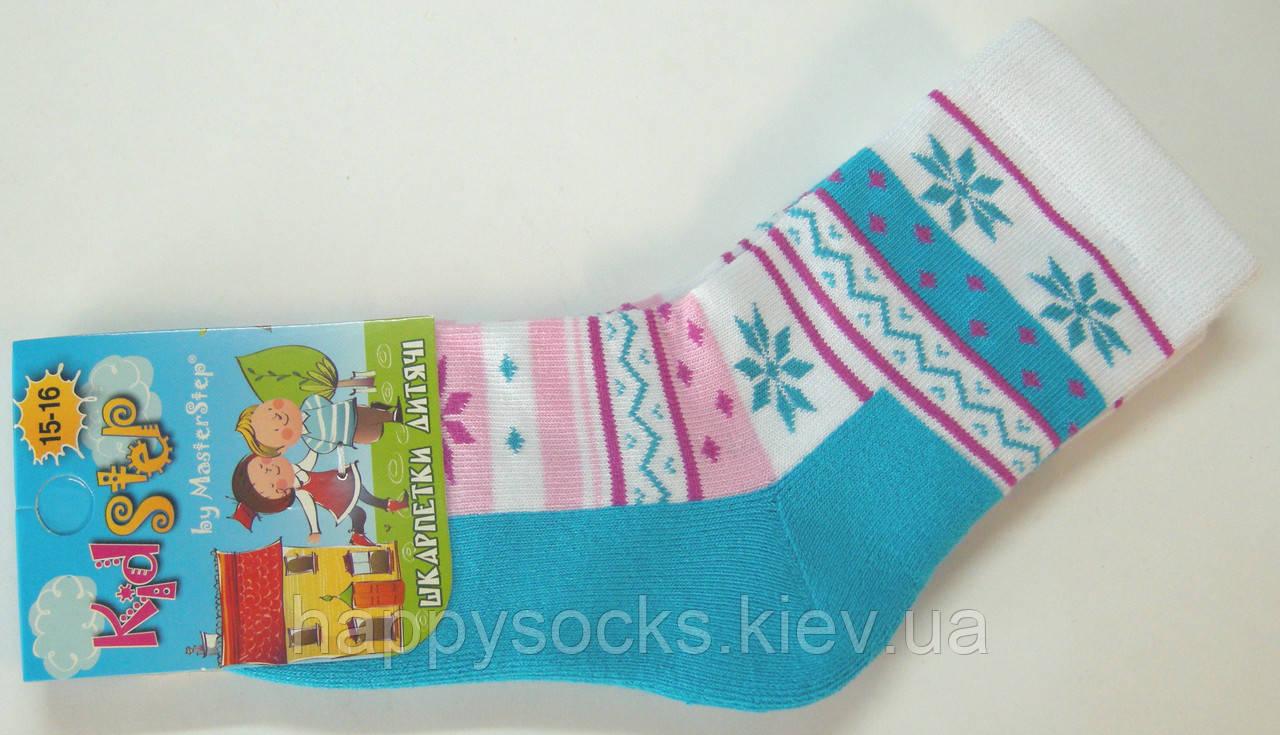 Носки с махровым следом для девочек бирюзовый