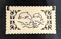 """Шкатулка морська """"Пара дельфінів"""", фото 1"""