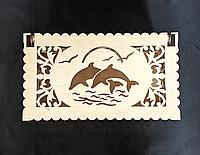 """Шкатулка морська """"Дельфіни на Заході"""", фото 1"""