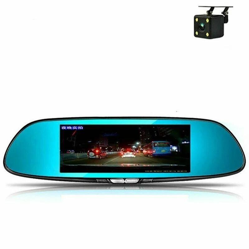Зеркало видеорегистратор с камерой заднего вида 4,3 inch 2 camera