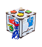 Кубик Развивающий - БизиДом - 22х22х23 см - с Подсветкой - ОРИГИНАЛ