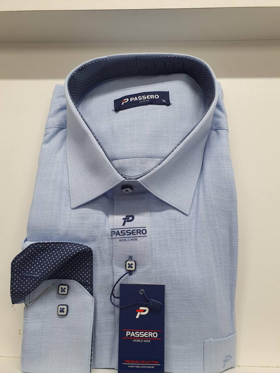 Рубашка длинный рукав Passero лён - classic