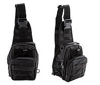 Рюкзак тактический однолямочный 6 литров Oxford Чёрный