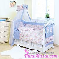 Постельное белье в детскую кроватку Twins Standart Пушистые мишки, фото 1