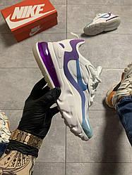 Женские кроссовки Nike Air Max 270 React White Violet (бело-фиолетовые)