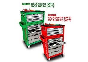 Ящик с инструментом для ремонта автомобиля, СТО, автосервиса (Pro-Line) 3 секции 104ед.  TOPTUL GCAZ0013, фото 2