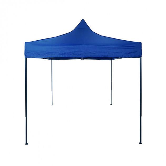 Намет розсувний 2 м х 2 м синій, Захисний намет-гармошка з водонепроникним прогумованим тентом, фото 1