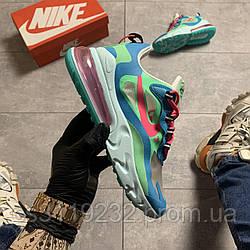 Жіночі кросівки Nike Air Max 270 React Turquoise Green (зелені)