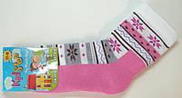 Теплые носки с махровым следом розовый