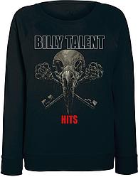 Женский свитшот Billy Talent - Hits (чёрный)