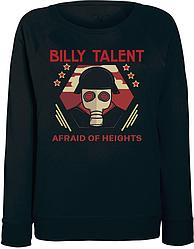 Женский свитшот Billy Talent - Afraid Of Heights - Mask (чёрный)