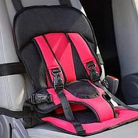 Бескаркасное детское автокресло Multi-function Car Cushion NY-26 Малиновое доставкой по Украине | 🎁%🚚
