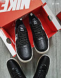 Мужские весенние кожанные кроссовки черно/белые Nike Air Force 1 LV8, фото 3