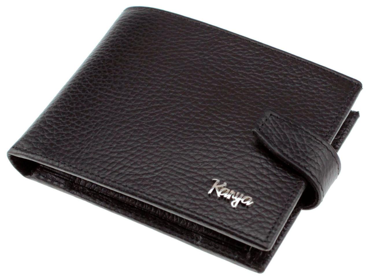 Мужской кошелек Karya 0411-45 кожаный черный